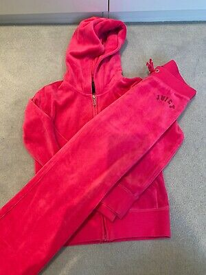 Juicy Couture Pink Glitter Velour Kids Tracksuit age 6/7 Years