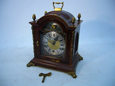 VTG Warmink WUBA Mantel Clock 3 Chimes Westinster St.Mich Whit 8 day 7 jewels