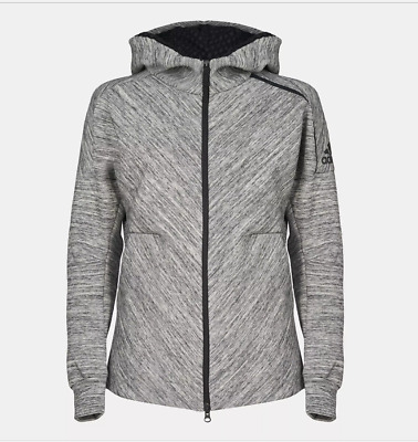 NEW Adidas Z.N.E Road Hoodie Grey Zip Womens Girls Size M UK 12-14 RRP £105