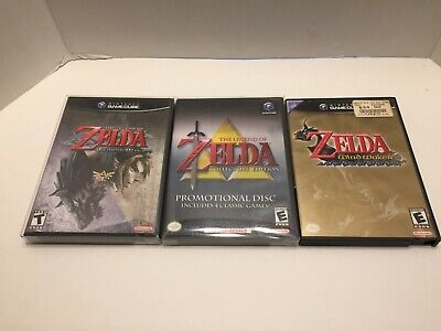 Nintendo Gamecube Legend of Zelda Lot Windwaker Twilight Princess Collector's Ed