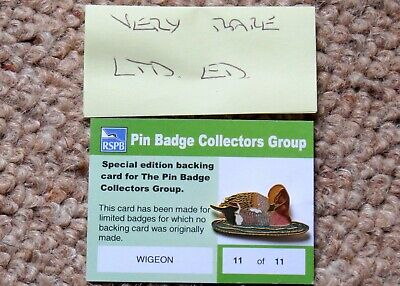 Pin Badge Rspb Extremely Rare Collectors Group Wigeon 1 Of Only 11