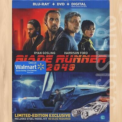 BLADE RUNNER 2049 WALMART Blu-ray + DVD with EXCLUSIVE Spinner Model        0224