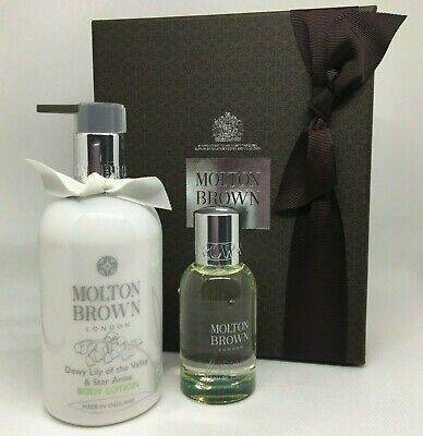 MOLTON BROWN Dewy Lily Gift Set Box EDT & 300ml Body Lotion RRP £71