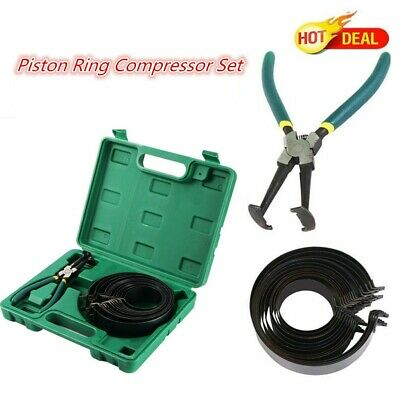 14 Bands Piston Ring Compressor Cylinder Installer with Plier Tool Kit US STOCK