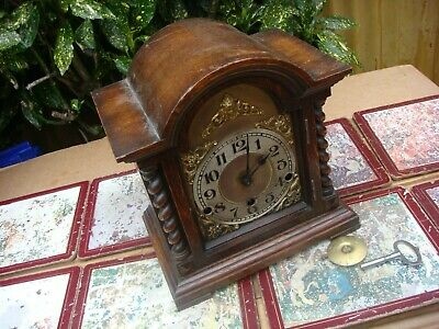 Antique Vintage Westminster   Mantle  Clock  For restoration Spare or Repair