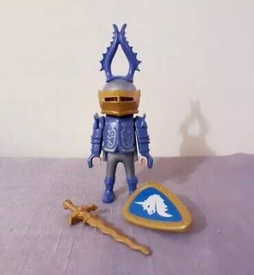 Playmobil 3977 easter egg blue knight very rare but incomplete, parts replaced