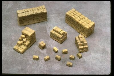 HO SCALE STACKED RAILROAD TIES 2 PIECES RESIN
