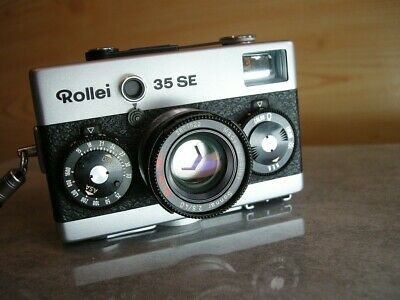 ROLLEI 35 SE camera with 40mm F2.8 Sonnar HFT lens Silver 35SE