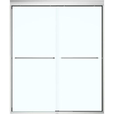 """51""""- 55"""" x 71"""" Aura Soft Close Shower Door with Clear Glass and Chrome Trim"""