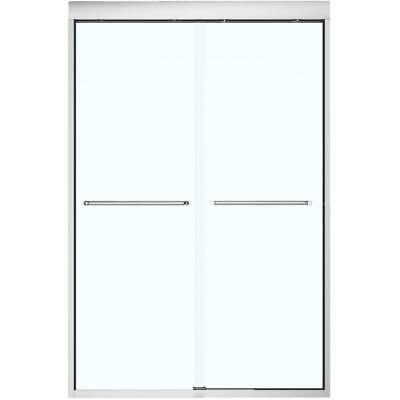 """43""""- 47"""" x 71"""" Aura Soft Close Shower Door with Clear Glass and Chrome Trim"""