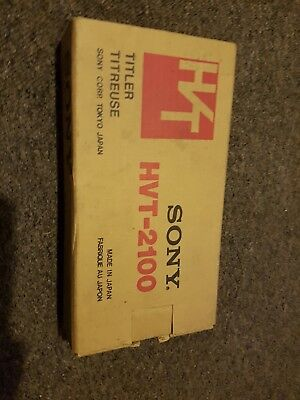 sony  HVT -2100  video Titler  boxed