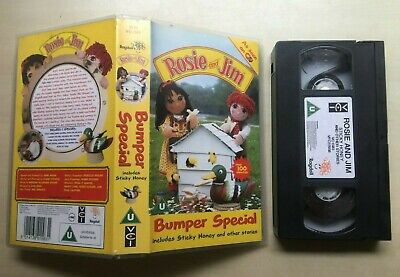 Rosie And (&) Jim - Sticky Honey - Vhs Video
