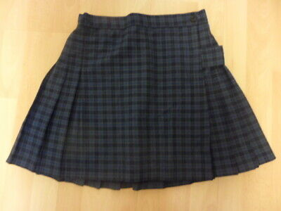 "Blue Check Netball/ Games Skirt/ Fancy Dress Waist 28"" Length 16"""