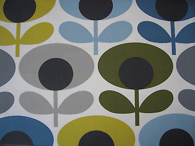 Orla Kiely oval flower marine 28cm wide / 63cm long fabric 100% cotton new