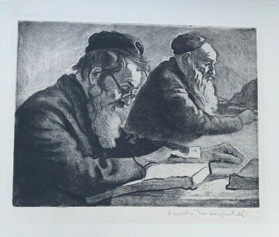 Joseph Marguiles Lithograph of Scholars