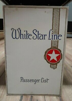 S.S. Olympic Second Class Passenger List White Star Line May 18, 1927