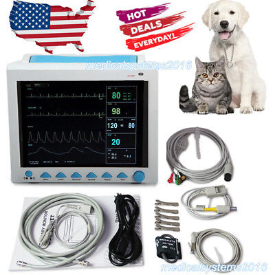 Veterinary Patient Monitor ICU Vital Signs Monitor VET Use Multi-Parameters USA