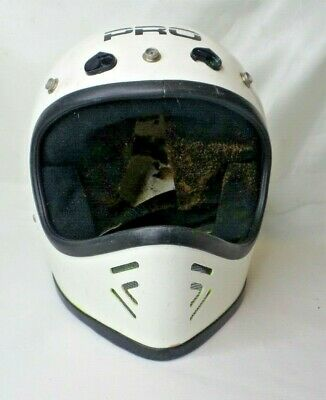 Vintage Pro Safety Helmet Full Face Moto X Motocross Motorcycle