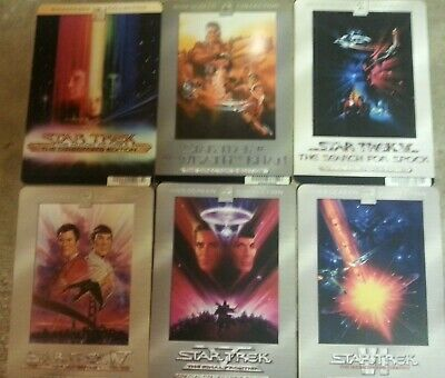 Star Trek Blockbuster Promo DVD Display Cards! Movies 1 - 6 mint condition!