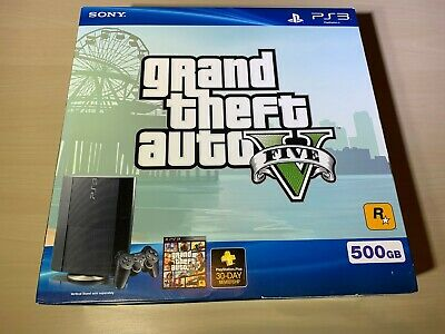 Sony Playstation 3 PS3 Super Slim Grand Theft Auto V 5 500GB Console - Brand New