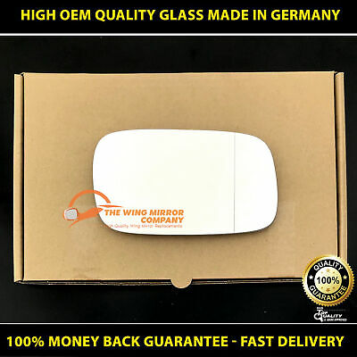 Left side Wide Angle Wing door mirror glass for Saab 9-5 1997-2002 plate