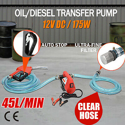 12V Portable Bowser Electric Oil Transfer Pump Extractor Diesel Oil Fuel Auto