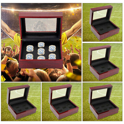 Wooden Display Box Storage Holder Organizer Case for Championship Ring US