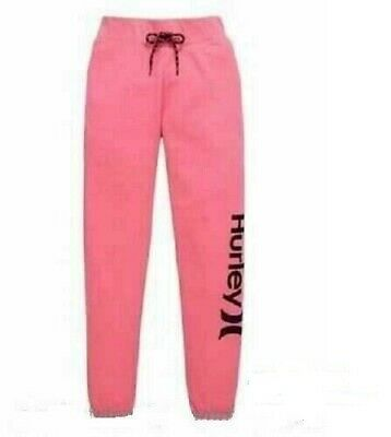 Hurley Girls Joggers Pants Trousers Gym Sports  Pink Size Youth Medium
