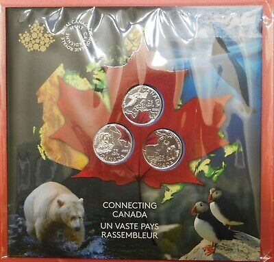 Proof Like 2020 Canada 3 Connecting Color 25 Cents Sealed in Folder