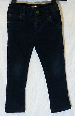 Boys Next Dark Navy Blue Cord Adjustable Waist Classic Fit Jeans Age 3-4 Years