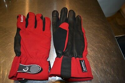 Sealskinz 100% waterproof all season red Large leather palm