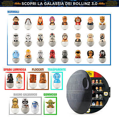 Rollinz 3 2020 Star Wars Esselunga Collector - Yoda - Darth Vader - Luke