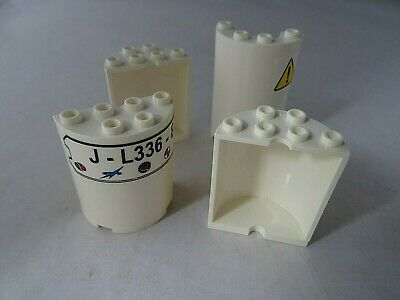 LEGO Lot of 2 White 2x4x4 Half Cylinders