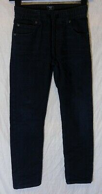 Boys Gap Dark Blue Soft Whiskered Denim Drawstring Jogger Jeans Age 8-9 Years