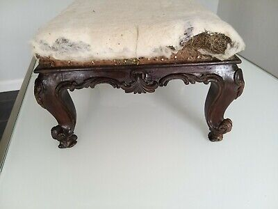 1840s antique English rosewood footstool