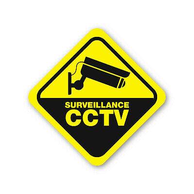 SURVEILLANCE CCTV 10 Year Guarantee Security Label Vinyl Sticker CAMERA TV