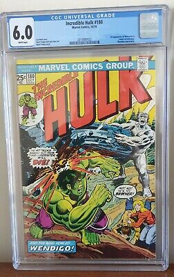 Incredible Hulk #180 CGC 6.0 First Cameo Appearance Of Wolverine