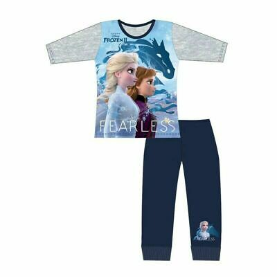 Girls Official Disney Frozen 2 (FEARLESS) Long Pyjamas Pjs Age 4-10 Years. NEW