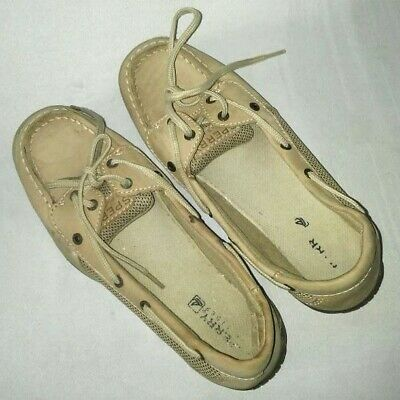 NIB Sperry Girls Top-Sider Laguna Linen Paradise Size 2M 3M 4M Casual Shoes