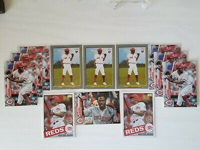 2020 Topps Series 1 Aristides Aquino Short Print RC Lot 12 Total Rookie Cards