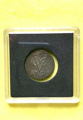 1790 Ny. Penny Duit Voc Coin Dutch East Indies Treasure Spice Trade Coin