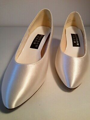 Rainbow Club Crystal Wedding Bridal Shoes White Satin Sze 3.5 ExDisplay No Reser