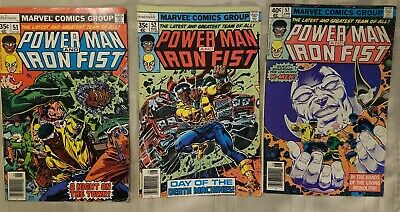 Marvel Comics POWER MAN And IRON FIST #57 1979 Bronze Age X-Men  with 51 + 52