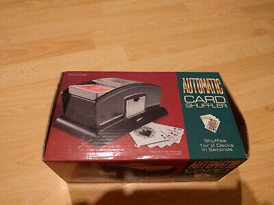 Automatic Card Shuffler for 1 or 2 Packs, Battery Operated