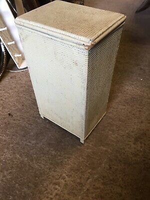 Vintage White Traditional Loom Laundry Box Lloyd Paint Project 11/2/M
