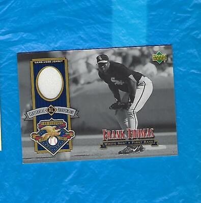 Frank Thomas 2001 Upper Deck Centennial Anniversary Game Used Jersey !