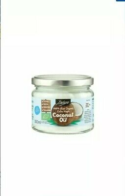 DELUXE 100% Organic Raw Extra Virgin Coconut Oil 300ml