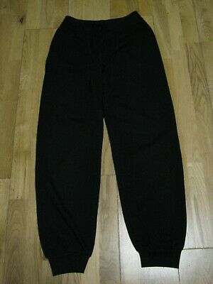 Girl's Black Jogging Bottoms/ Trousers by Primark.  Age 11-12 Years / 152 cm