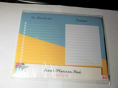 3 Bird Designs Desk Planner Pad-To Do List-Notes-60 Sheets