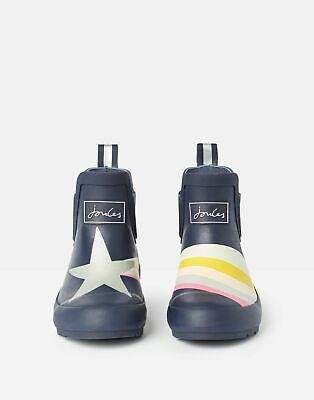 Joules Girls Wellibobs Boots Ankle Wellies - NAVY SHOOTING STAR Size Childrens 8